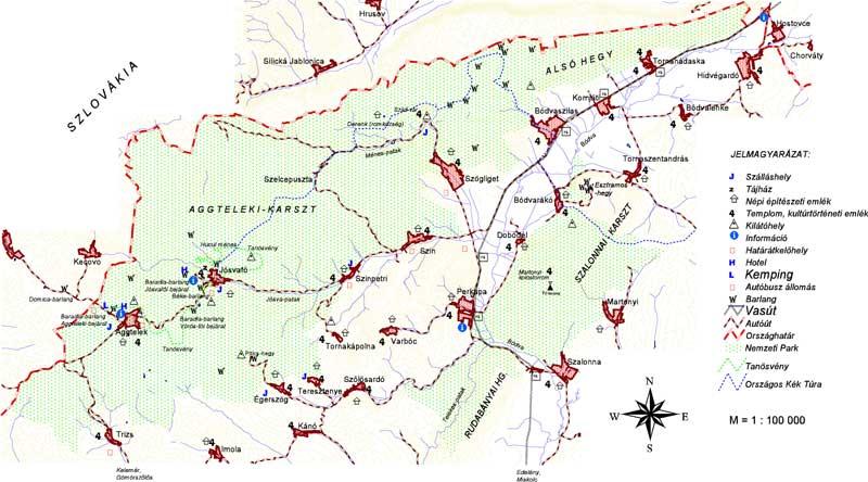 aggtelek térkép Aggteleki Nemzeti Park Igazgatóság aggtelek térkép